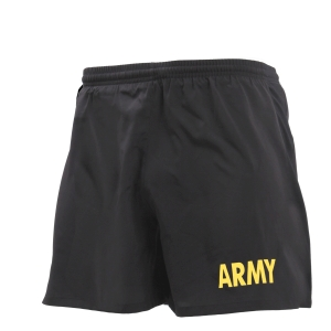 ROTHCO Nohavice krátke s nápisom ARMY ČIERNE